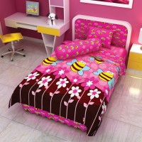 Bed Cover Single 120 Little Bug Kids Edition Pink