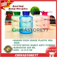 Tempat Air Minum Botol Bentuk Galon Mini Bahan Plastik BPA Free