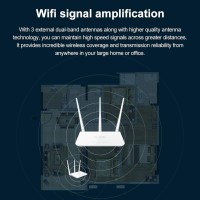 Tenda F3 300Mbps Router WiFi Wireless Repeater Multi Bahasa