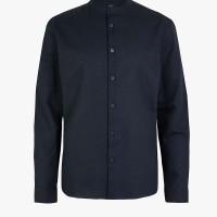 MARKS & SPENCER - Kemeja Pria - Linen Blend Grandad Shirt