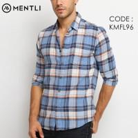 MENTLI Kemeja Pria Flanel Lengan Panjang Slim Fit Original Flannel