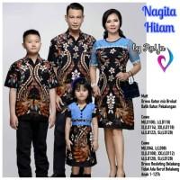 Seragam batik anak dress brokat COUPLE NAGITA baju sarimbit