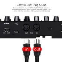 Kabel MIDI USB Profesional Interface Upgrade Ke USB IN-OUT