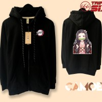 Jaket Hoodie Zipper Anime Kimetsu no yaiba nezuko chibi demon slayer