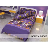 Bed Cover Single 120 Looney Tunes Kids Edition Ungu