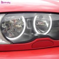 4Pcs Lampu LED Lingkaran CCFL Angel Eyes 200LM 16W untuk BMW E46 E38