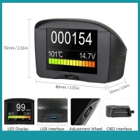Mc Car OBD HUD Head Up Display Projector Voltage Overspeed