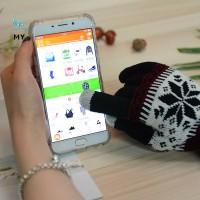 Sarung Tangan Rajut Touch Screen Hangat untuk Pria / Wanita /