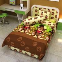 Bed Cover Single 120 Cowboy Bear Kids Edition Cokelat