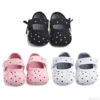 Sepatu Bayi Perempuan Motif Polkadot untuk Usia 0-18 Bulan
