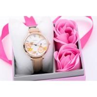 jam tangan FOSSIL WANITA VALENTINE GIFT SET DAPAT BUNGA