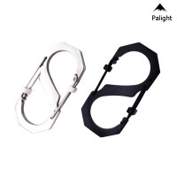 PA• 3pcs 8 Type Carabiner Key Chain Hook Clip Buckle Slide Lock