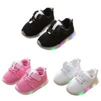 Toddler Baby Sport Running Shoes Boys Girls LED Luminous Sneakers