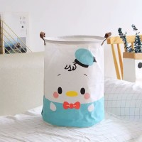 R301 Keranjang Laundry Baju Kotor Motif Karakter Lipat Basket
