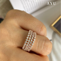 AYU Single Prong Stack 17K Rose Gold