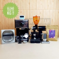 Paket Mesin Kopi Espresso ACA Boxr Coffee Maker With Grinder N600