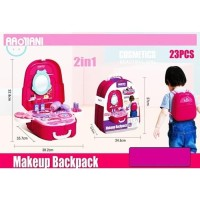 Mainan Make up Backpack Cosmetic Beautiful Girl 2in1 23 pcs 688-83A