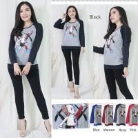 Kaos wanita | Sweater Raglan | Kaos lengan panjang Sweater Babyterry 1