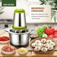 Han River Chopper Stainless Steel 2L Meat Grinder Food Choper Besar