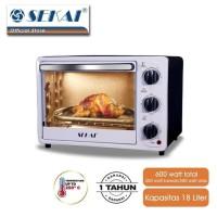 Sekai Oven Listrik 18 Liter OV180 Low Watt OV 180 Electric Toaster