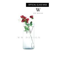 Aquarium Toples Vas Bunga Kaca Tabung Polos WW Design Swanbee B 650