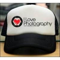TOPI TRUCKER JARING COSTUM I LOVE PHOTOGRAPHY - JASPIROW SHOPPING