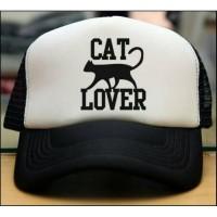 TOPI TRUCKER JARING COSTUM CAT LOVER - JASPIROW SHOPPING