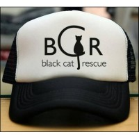 TOPI TRUCKER JARING COSTUM BLACK CAT RESQUE - JASPIROW SHOPPING