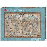 HEYE - RETRO WORLD PUZZLE 1000 PCS
