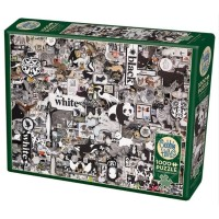 COBBLE HILL - BLACK & WHITE : ANIMALS PUZZLE 1000 PCS