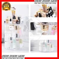 Rak Kosmetik Makeup Putar 360 Akrilik Acrylic Polos Organizer Make Up