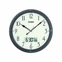 JAM DINDING WALL CLOCK CASIO CALENDAR DAY MONTH DATE SILENT MOVEMENT 8