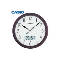 JAM DINDING WALL CLOCK CASIO THERMOMETER HYGROMETER SILENT MOVEMENT 5D