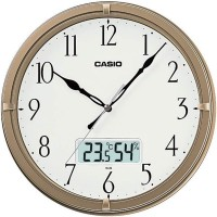 JAM DINDING WALL CLOCK CASIO THERMOMETER HYGROMETER SILENT MOVEMENT 9D