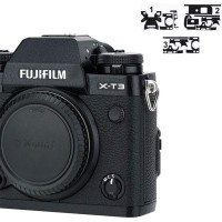 Leather Texture Skin Protector Sticker for Fujifilm X-T3 XT3 X T3