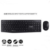 Keyboard Mouse Set wireless Black For Pc Laptop Macbook Smart Tv