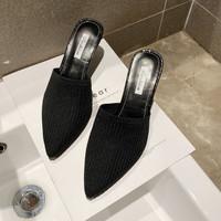 Sandal Batam Rajut Hak Tinggi 7CM Drop0067 Sepatu Pesta Wanita Heels