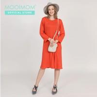 MOOIMOM Side Zip Maternity & Nursing Dress