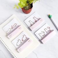 Cat Shapes Deco Paper Clip 2pc / Klip Kertas / Pembatas Kertas