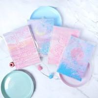 Pink Dream Quicksand Ruled Notebook A5 / Buku Tulis A5 / Buku A5