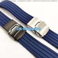 Tali jam tangan Rubber karet engsel watch Bracelet Navy Blue
