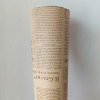 kertas tisu motif koran newspaper buket bunga