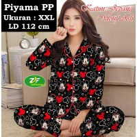 Piyama PP XXL - Katun Jepang / Baju Tidur Murah Karakter Mickey Black