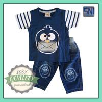 Baju Setelan Anak Laki-laki 1 2 3 tahun Atasan Kaos Celana Wash Jeans