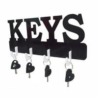 Rak Gantungan Kunci Motif Huruf KEYS Set Gantungan Dinding Rak Kunci