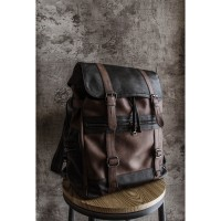 Ransel Kulit Marques Leather Backpack Dark Shades