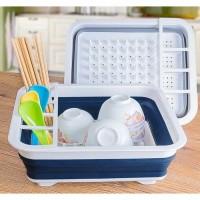 NEW Wadah Baskom Kotak pengering Cuci Piring Gelas Sendok bisa dilipat
