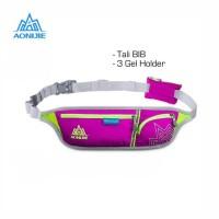 Aonijie Waist Bag E916 Tas Pinggang +Tali BIB, 3 Gel Holder - ROSE RED