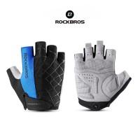 ROCKBROS S109 Bike Glove Half Finger - Sarung Tangan Sepeda BLUE