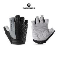 ROCKBROS S109 Bike Glove Half Finger - Sarung Tangan Sepeda GRAY